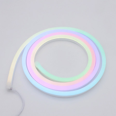 DMX512 RGB color changing silicone mini neon flex 9.5x22mm