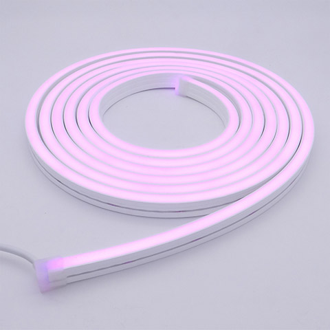 Purple color of Silicone Neon Flex RGBW 12x20mm for swimming pool