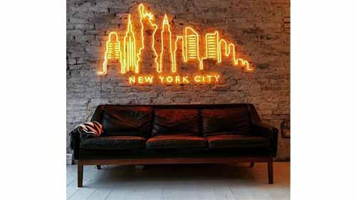 A Neon Light Decoration