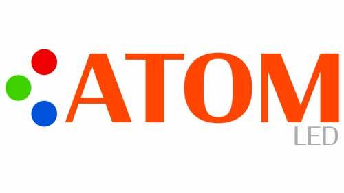 Atom led lighting logo