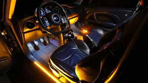 Automobile neon lighting