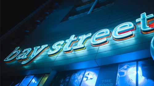 Bay Street Neon Sign