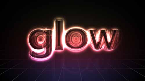Glow neon light text