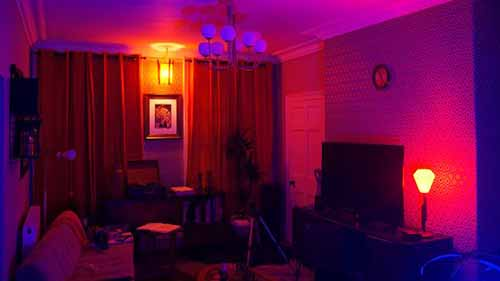 Living Room Neon Lights