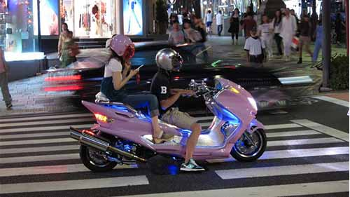 Moped Neon Lights