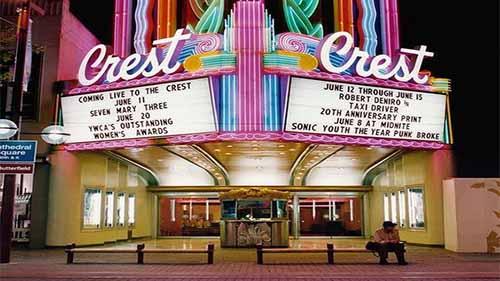 Movie Theatre Neon Lights