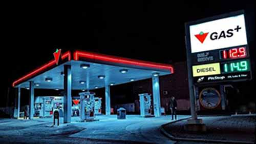Neon Gas Station Signs