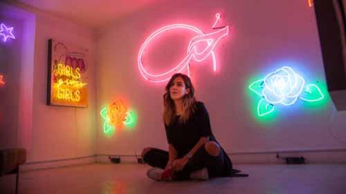 Neon light artwork