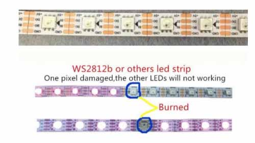 A illustrative comparison of WS2813 and WS2812b signal relays