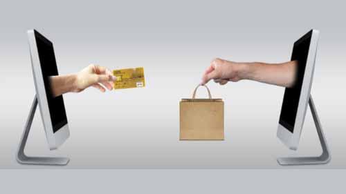 A mock image of e-commerce