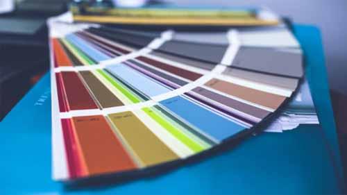 A paper color palette
