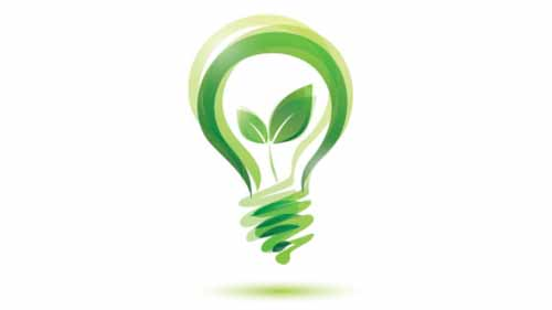 A symbol of an eco-friendly bulb