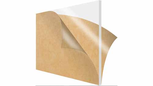An acrylic sheet wrapped in brown paper