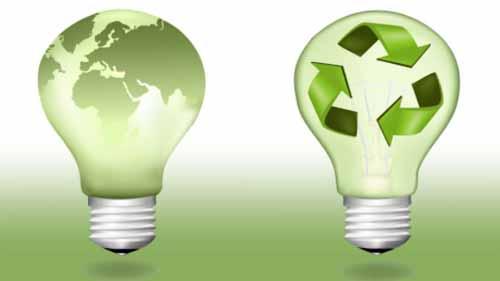 Bulbs demonstrating light and energy efficiency