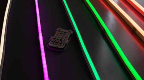 Different colors of LED neon flex lights