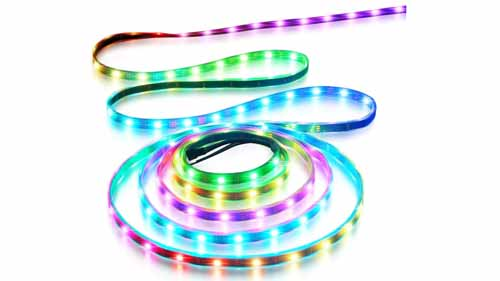 Glowing addressable LED strips