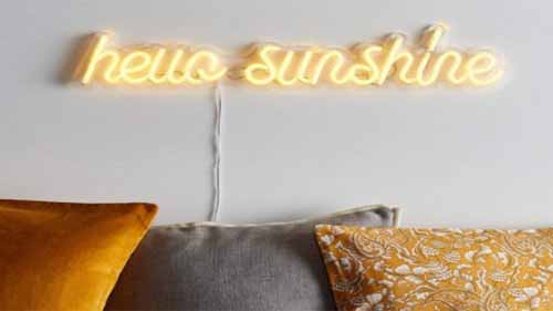 Hello sunshine led neon sign
