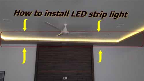 How to install led strip light image