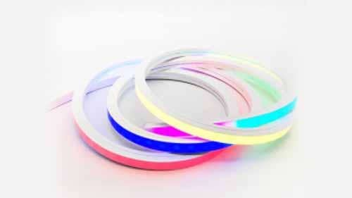 A colorful LED neon flex light strip