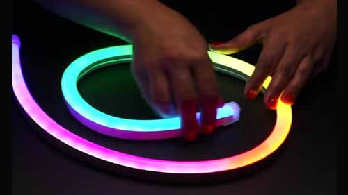 LED neon flex is flexible and easy to install