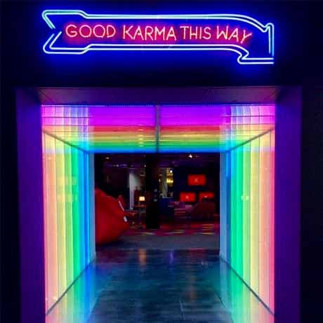 Rainbow neon light decor
