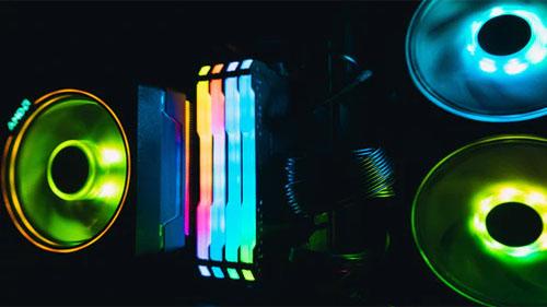 A Customized LED Neon Light setup.