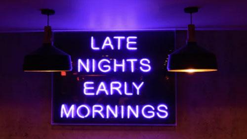 A custom Neon light Sign